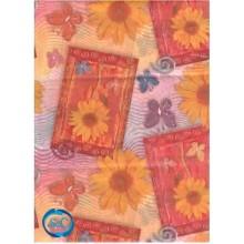Papel seda decorado flores y mariposas