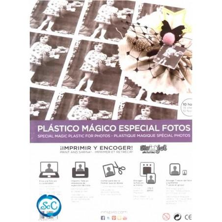 Plástico Mágico para fotos con impresora