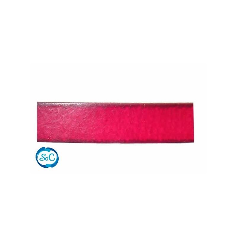 Tira imitación cuero 11 mm color rojo