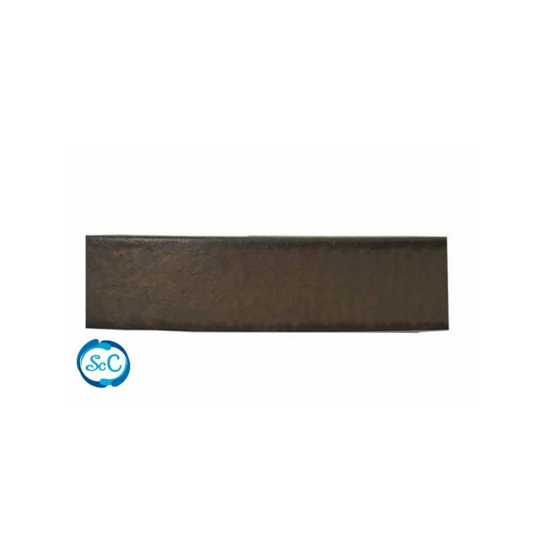 Tira imitación cuero 11 mm color marrón
