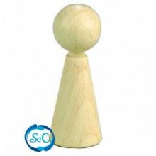Mini cono de madera con bola