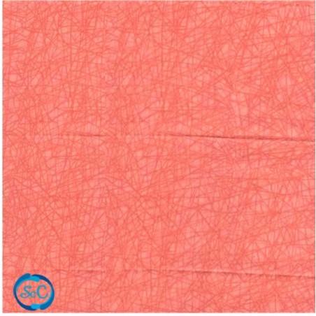 Tela patchwork rayas Naranja claro