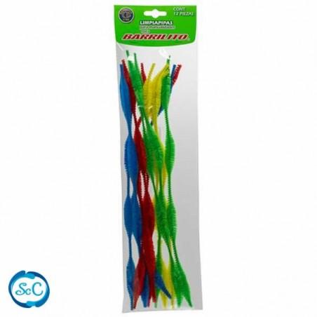 Limpia pipas de colores ondulados