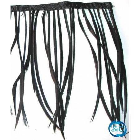 Flecos de plumas color negro 20 cm