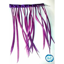 Flecos de plumas color Morado