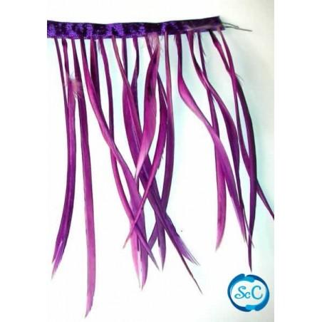 Flecos de plumas color Morado 20 cm