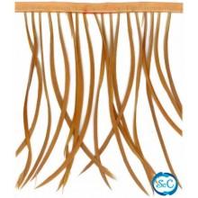 Flecos de plumas color Camel