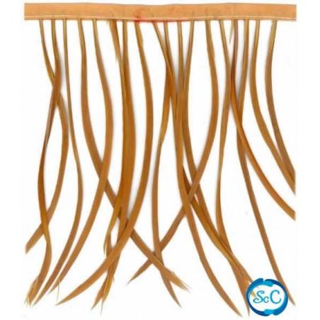 Flecos de plumas color Camel, 20 cm
