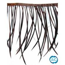 Flecos de plumas color Marrón, 20 cm