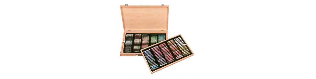 Cajas colores pasteles para pintar.