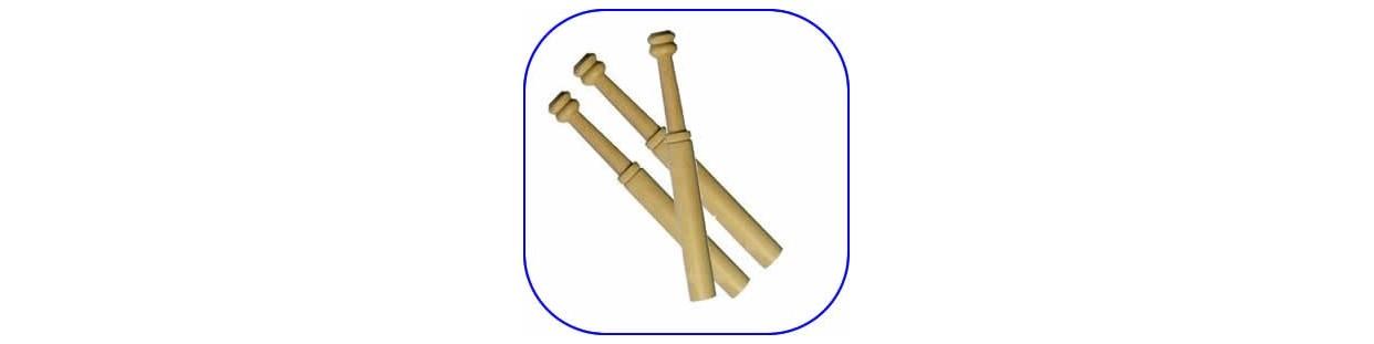 Bolillos de madera para encaje