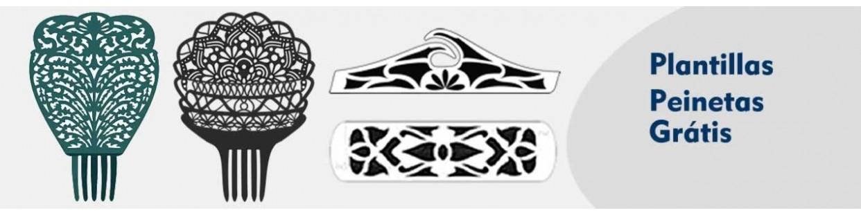 Plantillas y patrones gratis para peinetas y marquetría
