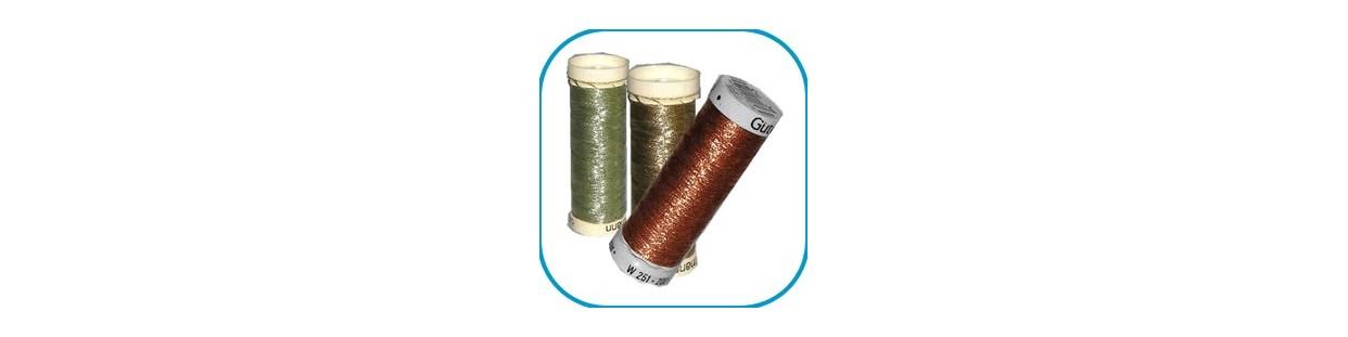 Hilos en bobina para labores y artesanía, encaje, bolillos, etc