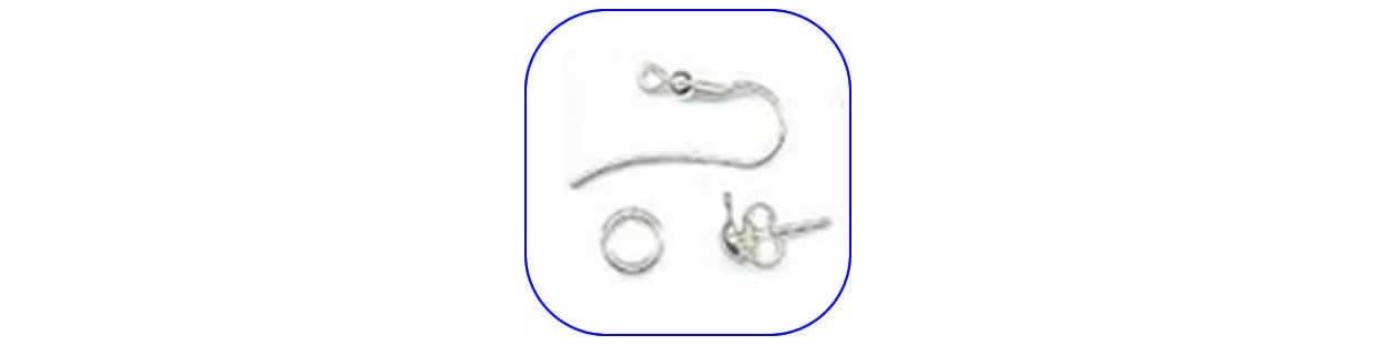 Fornitura de plata de ley para pendientes, collares, colgantes, etc