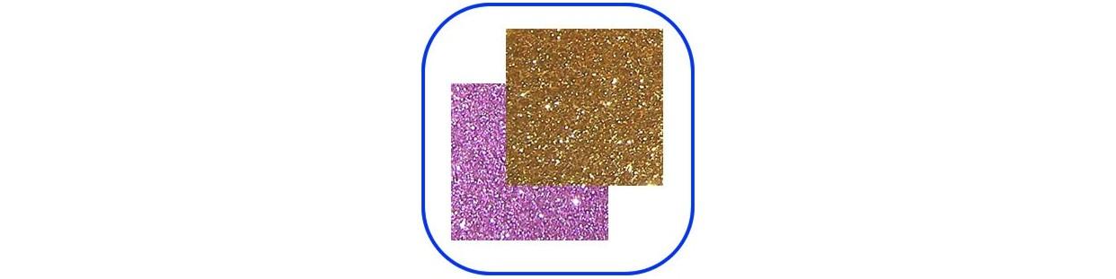 Goma eva con purpurina