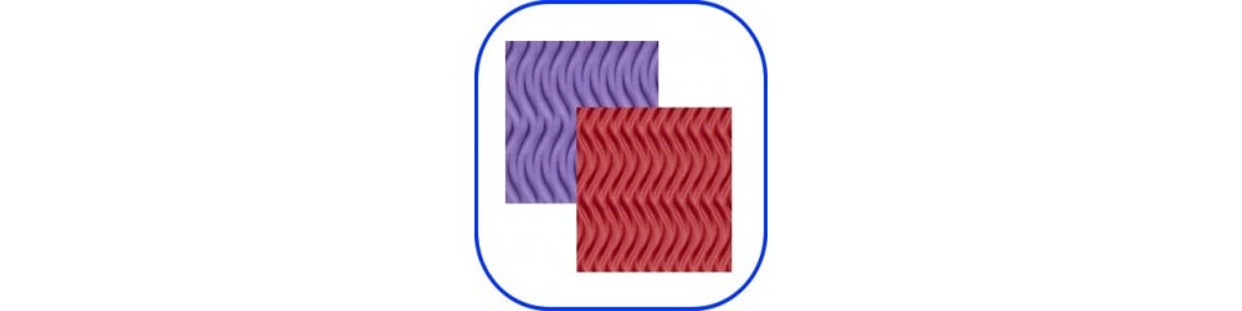 Goma eva con relieve en varios colores y texturas