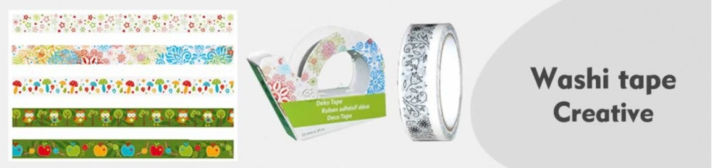 Cinta adhesiva decorada, washi tape Creative Tape
