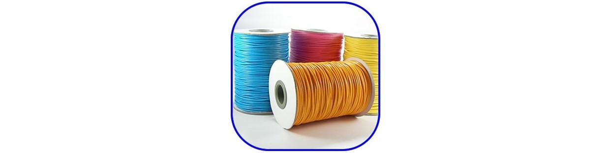 Cordón encerado en varios colores de 2 mm