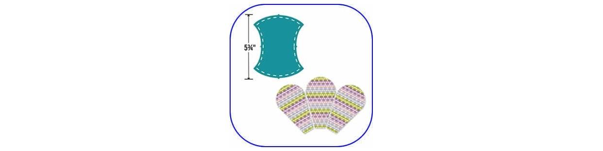 Troqueles Sizzix para patchwork. Corta formas definidas todas iguales y de una sola vez