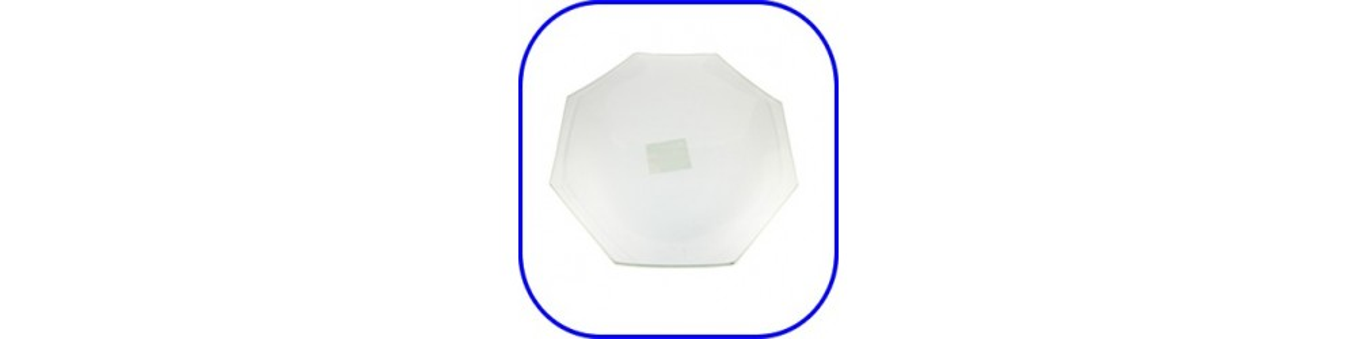 Soportes de cristal para decorar, bandejas, platos, etc