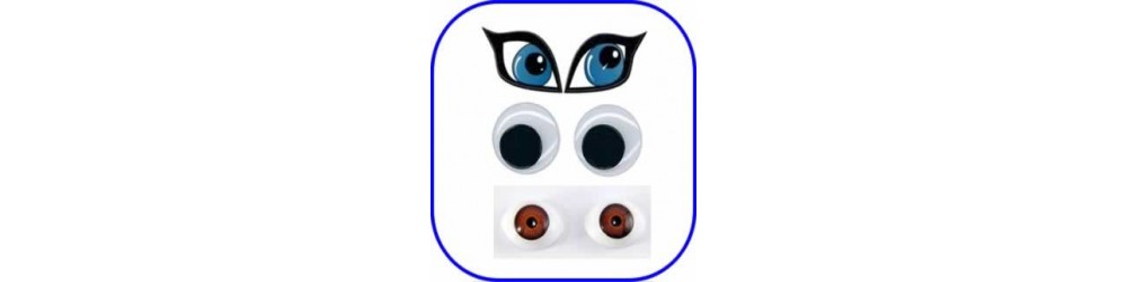 Ojos para muñecas, fofuchas y manualidades