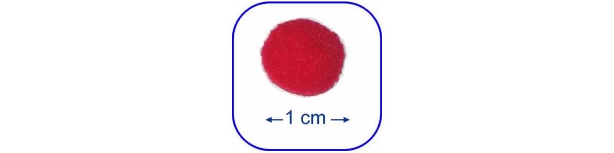 Bolas de fieltro o pompones de 1 cm