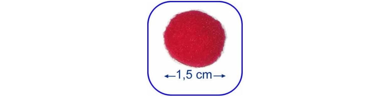 Pompones de 1,5 cm