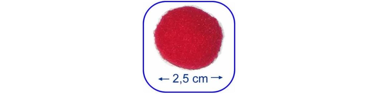 Pompones de 2,5 cm