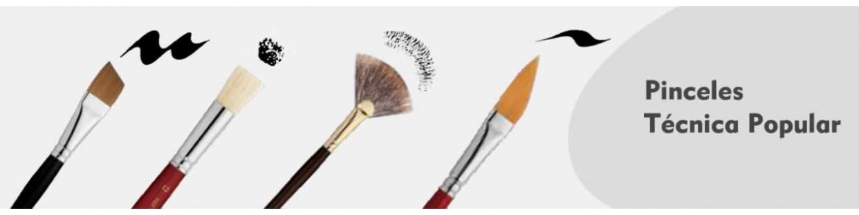 Pinceles para técnica popular