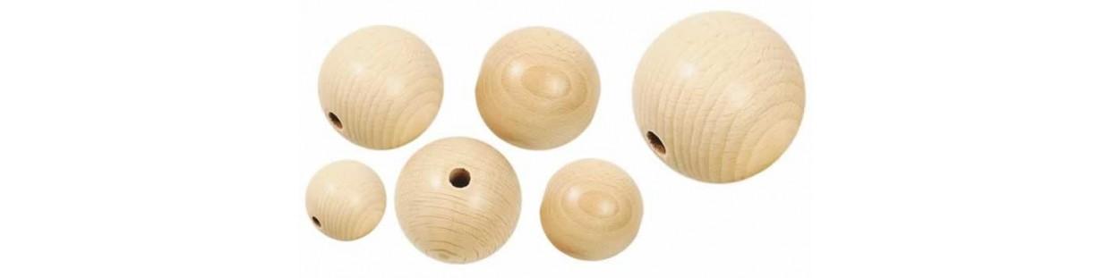 Bolas de madera para manualidades