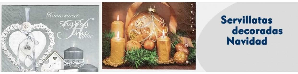 Servilletas decoupage decoradas de Navidad manualidades