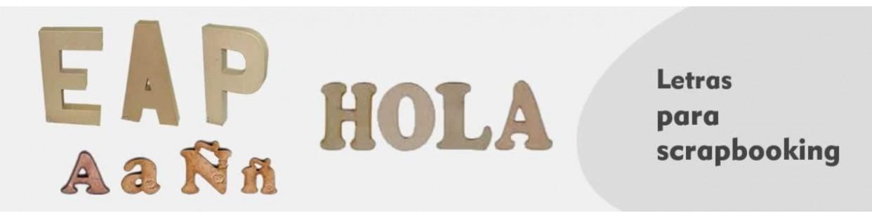 Letras de Madera para scrapbooking
