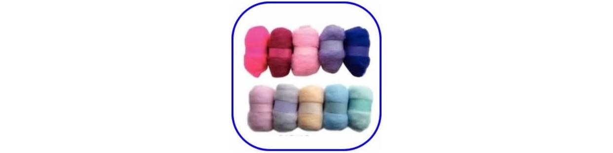 Madejas lana de fieltro