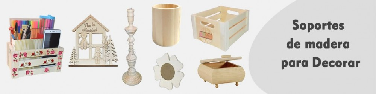 Objetos de madera para manualidades