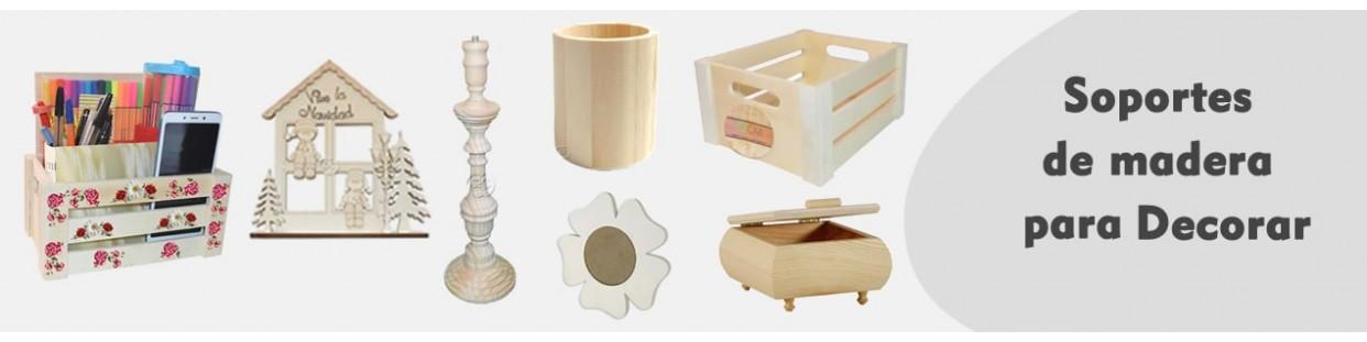 Soportes de madera para pintar y decorar