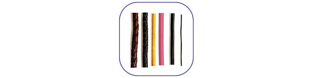Cordones de cuero para manualidades
