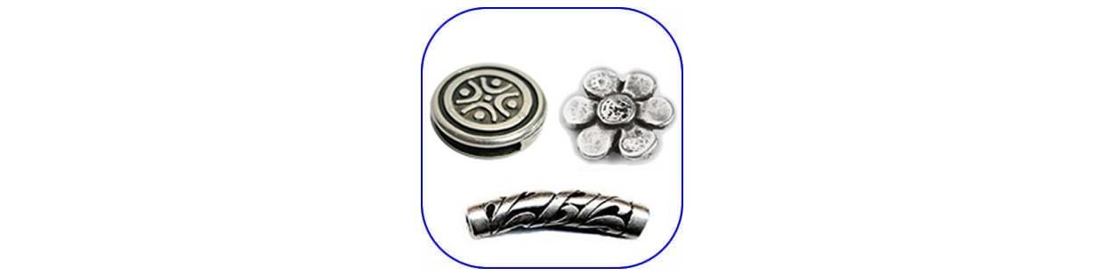 Abalorios y bolas de metal para bisutería
