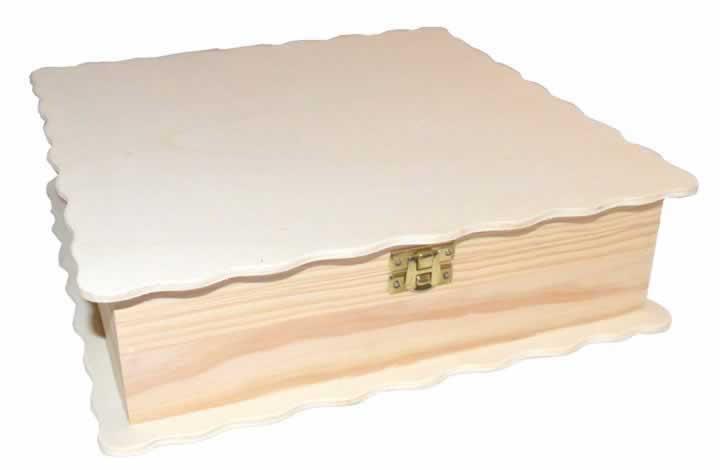 Caja de madera ondas