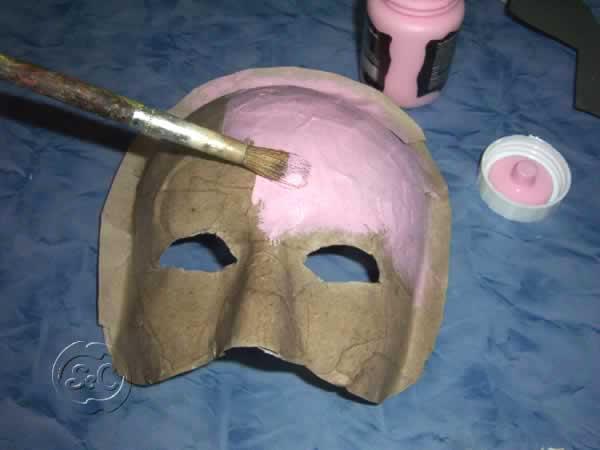 Mascara de carnaval paso 8