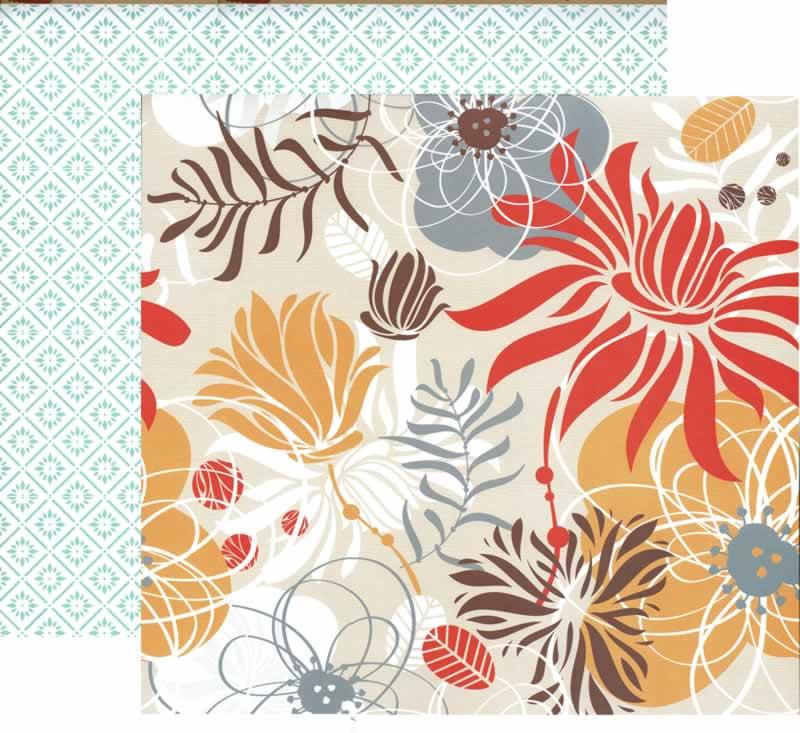 papel scrapbooking flores