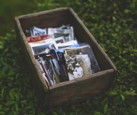 Caja de fotos vintage