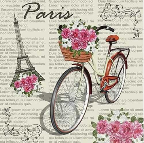 Papel de sublimar vintage Paris