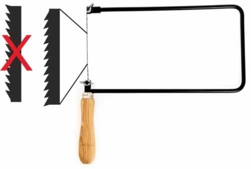 Forma de colocar la sierra de marquetería