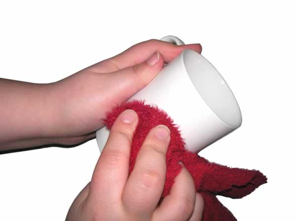 Limpiar la taza
