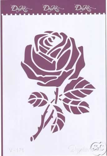 plantilla stencil rosa