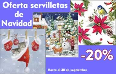 Oferta servilletas de navidad