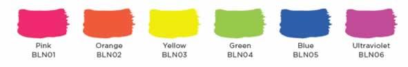 Colores del Pack black Light
