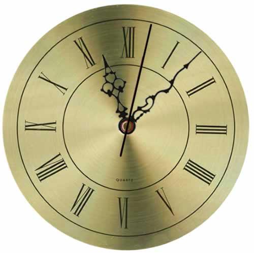 Esfera de reloj dorada