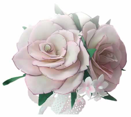Flor hecha con foamiran